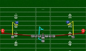mirrored passing routes double curl flat 300x180 Football Plays | Football Strategies  | Madden Tips | Madden